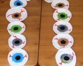 "Eye Ball Scarf  by DZ "" Free US Shipping "" eyeball blue hazel brown green"