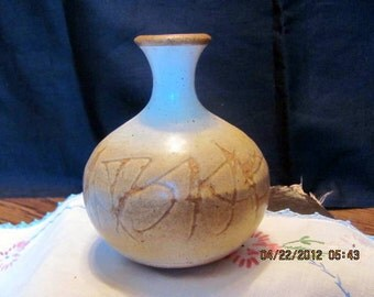 Handmade Pottery Vase or Jug-Artist Signed
