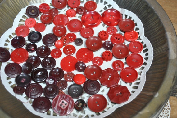 Vintage Shades of Red Buttons
