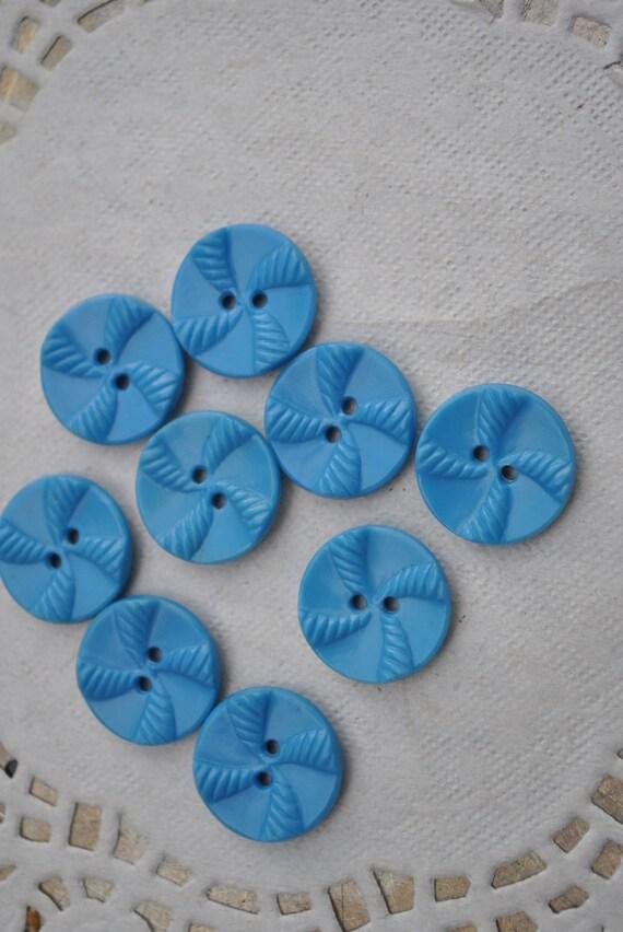 Vintage Fancy Blue Buttons