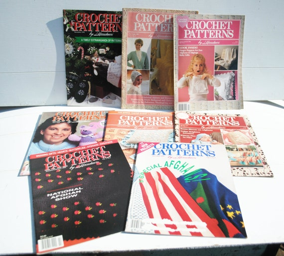 Destash Crochet Pattern Magazines by Herrschners