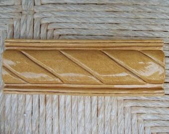 "Ceramic Tile -- Handmade -- 2"" x 6"" Rope Border Relief Tile -- MADE TO ORDER"