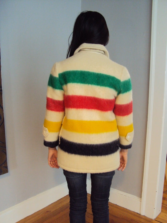 Vintage Hudson Bay Stripe coat