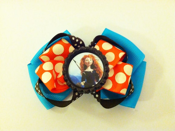 Disney Brave Hair Bow - Princess Merida Hair Bow - READY TO SHIP