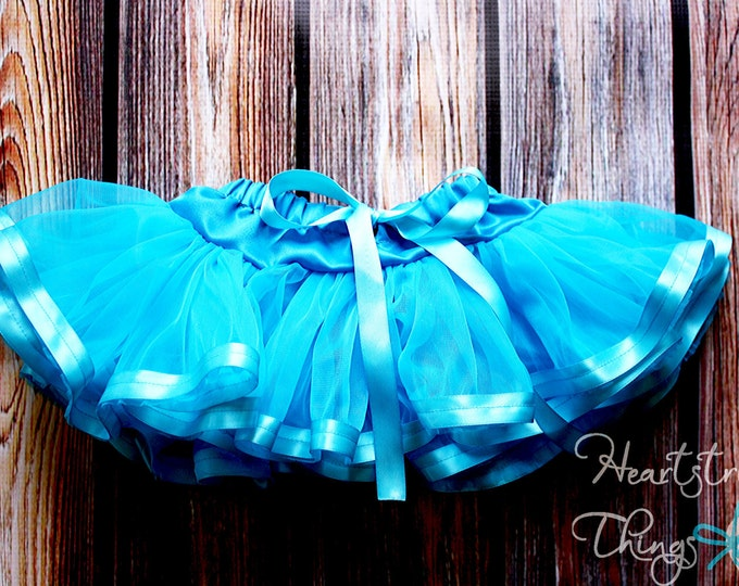 Newborn-2T Chiffon Pixie Pettiskirt lined with Satin Ribbon adapted from Petti Skirt for Baby or Child