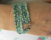 Beautiful Handmade Liberty's of London Fabric Bracelet