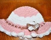 Crochet Pattern PDF - Sunhat - Simply Ruffled Sunhat - Newborn to Adult Sizes