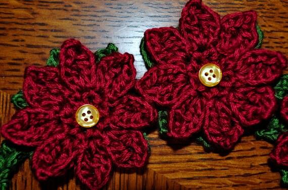 Crochet Pattern PDF - Headband / Bracelet - Poinsettia ...