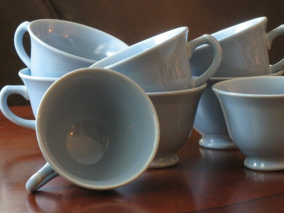 Lu Ray Pastels Set of Eight Coffee Cups