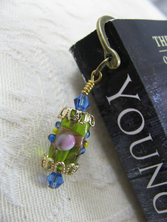 Bookmark-THE GIVING TREE-Embellished (Antique Bronze, Lampwork)