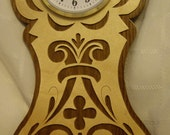 Maple and Cherry/or Walnut  Wall  Clock