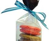 Taste Test - 4 Pack....A delectable sampling of Macaron flavors: Lemon, Strawberry, Pistachio & Chocolate.
