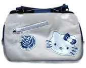 Retro Hello Kitty Blue and White Bowling Style Vintage Purse-Etsy Treasury