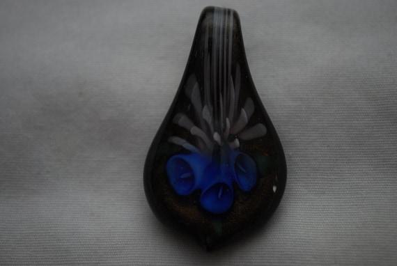 Glass Flower Pendant- Destash