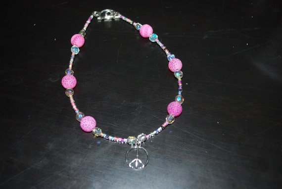 Reserved for Randi Peace sign anklet