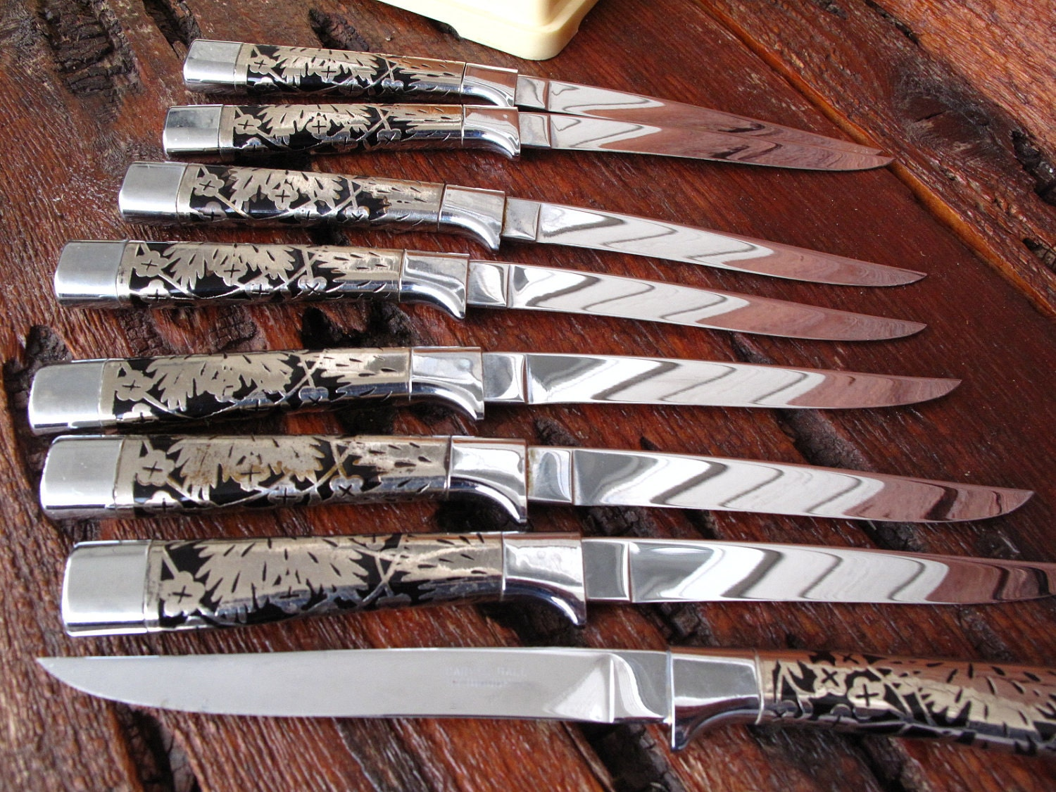 Vintage Steak Knife Set 8 Piece Carvel Hall By Briddell