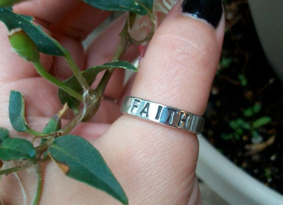 Sterling Silver Faith Ring