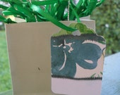 Gift tag /hang tag /price tag /Green / flowers/ dots/ stripes/ tye Dye /28 count