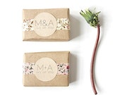 50 Wedding Favors. 100% Natural. Custom Vegan Handmade Soap Favors.