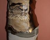 """RESERVED FOR NIKOLE Leather Gold Python """"Slither Over Me"""" Belt"""