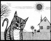 Cat in Contemplation