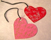 Valentine Heart gift tags - set of 12