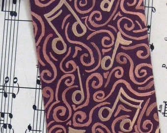 Hand Painted Bookmark - Musical