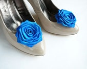 Electric Blue Wedding Shoe Clips
