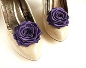 Purple/ Eggplant Wedding Shoe Clips