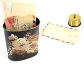 VIntage Painted Letter Tin or Holder