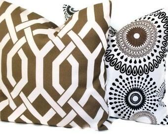 Decorative Pillow Accent Pillow Throw Pillow Mink Trellis P Kaufmann Pillow Cover 20x20 Pillow Sham Indoor Outdoor Pillow Cushion