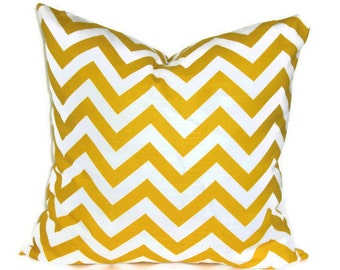 Decorative pillow - Pillow Cover - Accent Pillow - Throw Pillow - Cushion Covers - Chevron Premier Prints - Corn Yellow