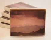 Asheville Rain Note Card Set of 6 from Original Oil Painting