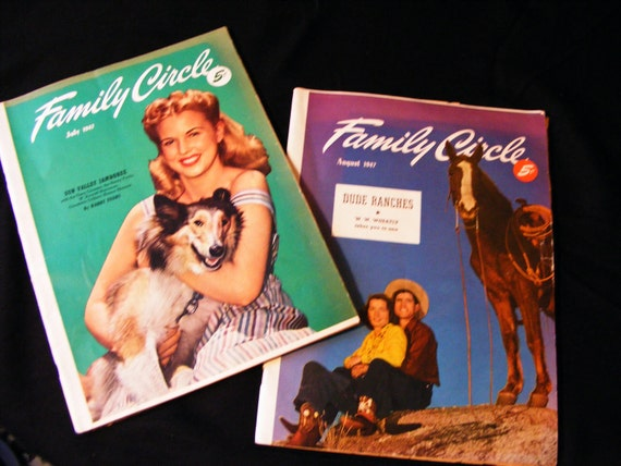 Well Preserved Family Circle Magazines July/August 1947