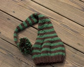 Custom Listing for sharonkrotzer1 - Brown and Green Baby Elf Hat