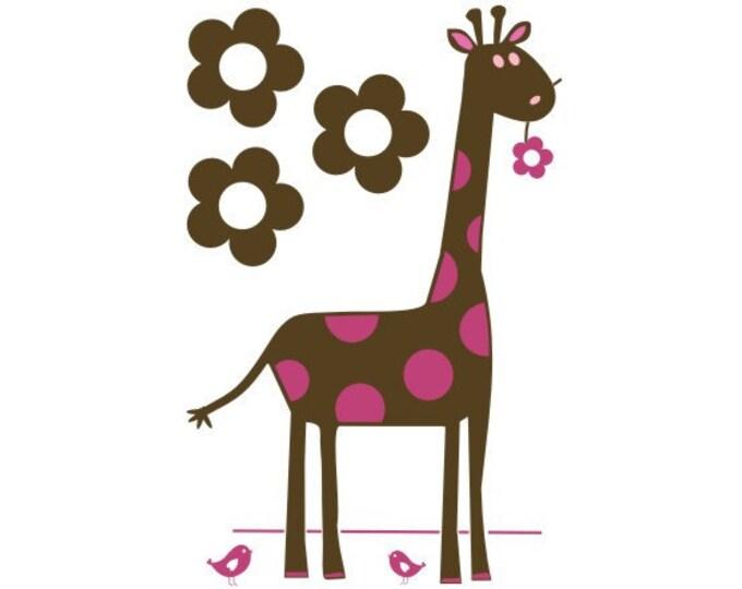 Giraffe Nursery Vinyl Wall Decal