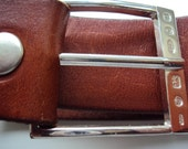 Handcrafted Fully Hallmarked English Solid Sterling Silver Mens / Womens Belt Buckle includes Belt. The Knightsbridge.