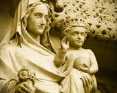 London England - Fine Art Travel Photograph - Westminster Mary and Jesus