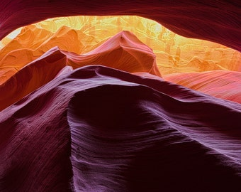 Antelope Canyon - Page Arizona - Slot Canyon - Fine Art Photograph - Over The Rainbow