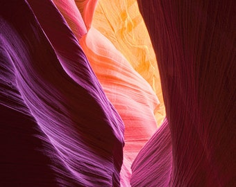 Antelope Canyon - Page Arizona - Slot Canyon - Fine Art Photograph - Flowing Left to Right