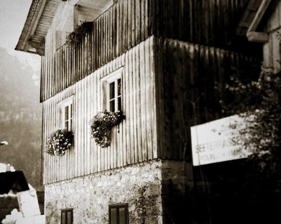 Austria Alps Mountain Farm House - Fine Art Print - Hallstatt Farm House