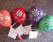 Maracas Hand Painted Large Maracas for Wedding Favors, Birthdays, and any Occasion (Custom color designed) (30 pieces)