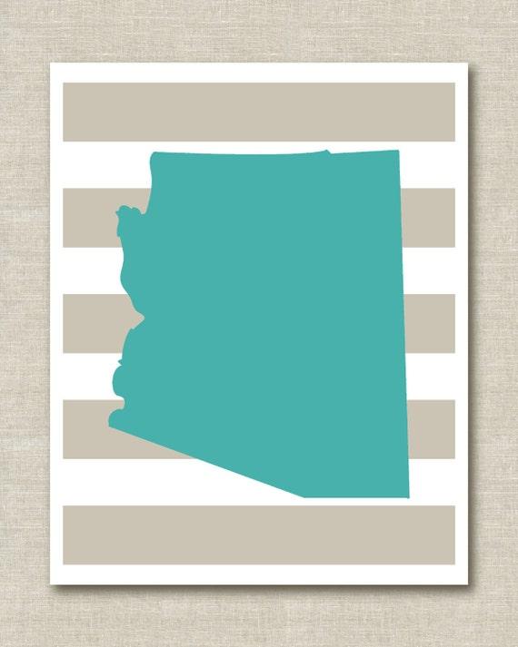 "Custom Personalized State Home Decor Art Print 8.5""x11"""