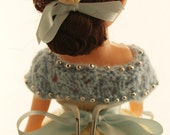 BALL GOWN DOLL  - Unique hand made 15 inch craft doll and stand