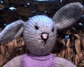 CUSTOM ORDER for Julie Knitted Rabbit - 9 inches tall
