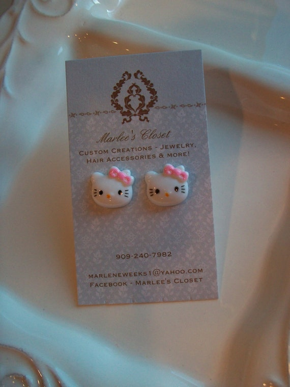 Hello Kitty Earrings - post style earrings