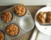 Muffin Tin, Silver Metal- FREE SHIPPING