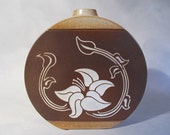 Pottery Craft Vase with Art Nouveau pattern, 1960 or 70s