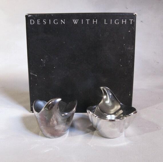 Dansk, Gunnar Cyren, Silverplate Bird Candleholders, in box