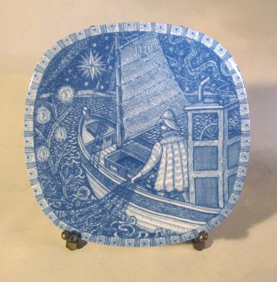 Swedish Ceramics, Rorstrand, Gunnar Nylund, Christmas Plate, 1969, MIB